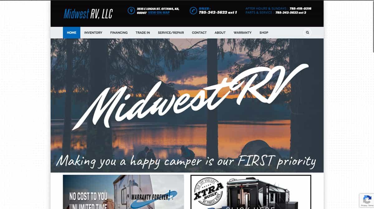 midwest rv website design